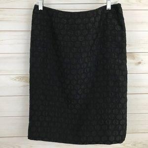 Anthroplogie Maeve Black Textured Skirt 4